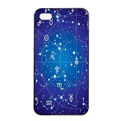 Astrology Illness Prediction Zodiac Star Apple Iphone 4/4s Seamless Case (black) by Mariart