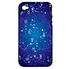 Astrology Illness Prediction Zodiac Star Apple Iphone 4/4s Hardshell Case (pc+silicone) by Mariart