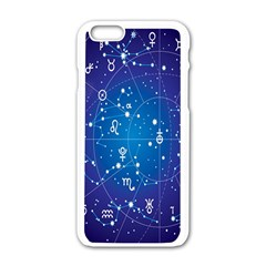 Astrology Illness Prediction Zodiac Star Apple Iphone 6/6s White Enamel Case by Mariart