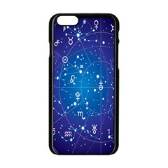 Astrology Illness Prediction Zodiac Star Apple Iphone 6/6s Black Enamel Case by Mariart