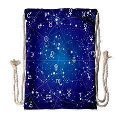 Astrology Illness Prediction Zodiac Star Drawstring Bag (large) by Mariart