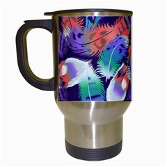 Bird Feathers Color Rainbow Animals Fly Travel Mugs (white) by Mariart