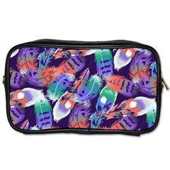 Bird Feathers Color Rainbow Animals Fly Toiletries Bags by Mariart