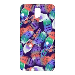 Bird Feathers Color Rainbow Animals Fly Samsung Galaxy Note 3 N9005 Hardshell Back Case by Mariart