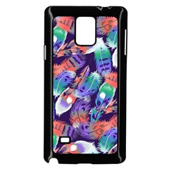 Bird Feathers Color Rainbow Animals Fly Samsung Galaxy Note 4 Case (black)