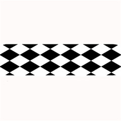Diamond Black White Plaid Chevron Large Bar Mats by Mariart