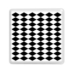 Diamond Black White Plaid Chevron Memory Card Reader (square)  by Mariart