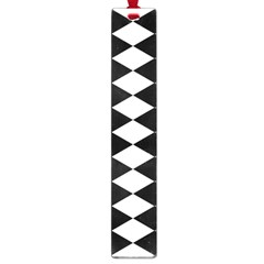 Diamond Black White Plaid Chevron Large Book Marks by Mariart