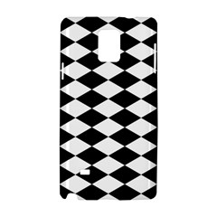 Diamond Black White Plaid Chevron Samsung Galaxy Note 4 Hardshell Case by Mariart