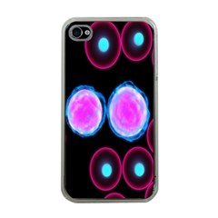 Cell Egg Circle Round Polka Red Purple Blue Light Black Apple Iphone 4 Case (clear) by Mariart
