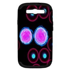 Cell Egg Circle Round Polka Red Purple Blue Light Black Samsung Galaxy S Iii Hardshell Case (pc+silicone) by Mariart