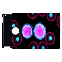 Cell Egg Circle Round Polka Red Purple Blue Light Black Apple Ipad 3/4 Flip 360 Case by Mariart