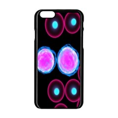 Cell Egg Circle Round Polka Red Purple Blue Light Black Apple Iphone 6/6s Black Enamel Case