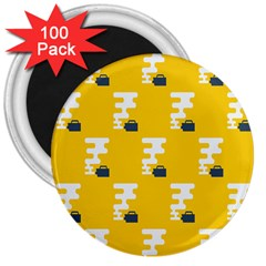 Fog Machine Fogging White Smoke Yellow 3  Magnets (100 Pack) by Mariart