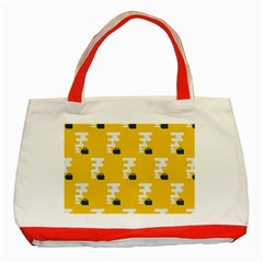 Fog Machine Fogging White Smoke Yellow Classic Tote Bag (red) by Mariart
