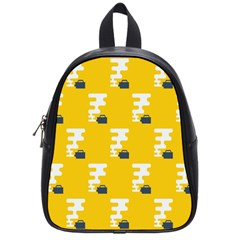 Fog Machine Fogging White Smoke Yellow School Bags (small)  by Mariart