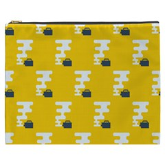 Fog Machine Fogging White Smoke Yellow Cosmetic Bag (xxxl)  by Mariart