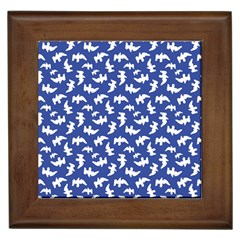 Birds Silhouette Pattern Framed Tiles by dflcprintsclothing