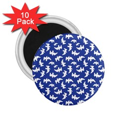 Birds Silhouette Pattern 2 25  Magnets (10 Pack)