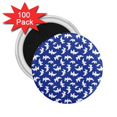 Birds Silhouette Pattern 2 25  Magnets (100 Pack)  by dflcprintsclothing