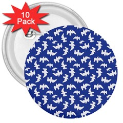 Birds Silhouette Pattern 3  Buttons (10 Pack)