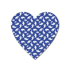 Birds Silhouette Pattern Heart Magnet by dflcprintsclothing