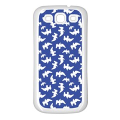 Birds Silhouette Pattern Samsung Galaxy S3 Back Case (white) by dflcprintsclothing