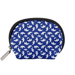 Birds Silhouette Pattern Accessory Pouches (small)  by dflcprintsclothing