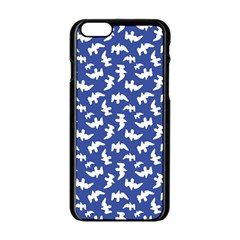 Birds Silhouette Pattern Apple Iphone 6/6s Black Enamel Case by dflcprintsclothing