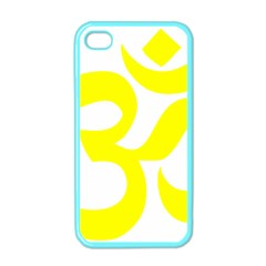 Hindu Om Maze Yellow Symbol  Apple Iphone 4 Case (color) by abbeyz71