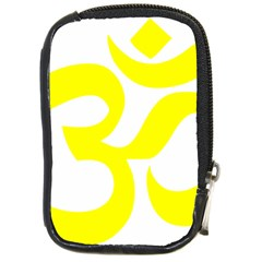 Hindu Om Symbol (maze Yellow) Compact Camera Cases by abbeyz71