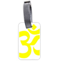 Hindu Om Symbol (maze Yellow) Luggage Tags (one Side)  by abbeyz71