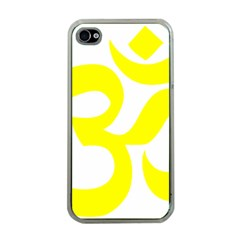 Hindu Om Symbol (maze Yellow) Apple Iphone 4 Case (clear) by abbeyz71