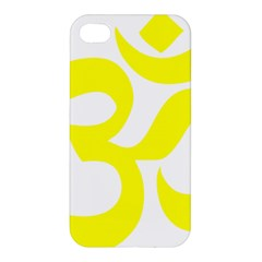 Hindu Om Symbol (maze Yellow) Apple Iphone 4/4s Premium Hardshell Case by abbeyz71