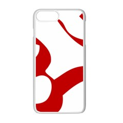 Hindu Om Symbol (red) Apple Iphone 7 Plus White Seamless Case by abbeyz71