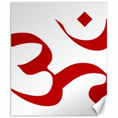 Hindu Om Symbol (red) Canvas 20  X 24   by abbeyz71
