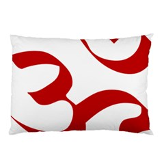 Hindu Om Symbol (red) Pillow Case (two Sides) by abbeyz71