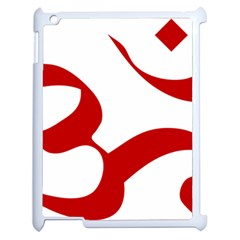 Hindu Om Symbol (red) Apple Ipad 2 Case (white) by abbeyz71