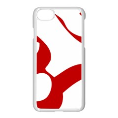 Hindu Om Symbol (red) Apple Iphone 7 Seamless Case (white) by abbeyz71