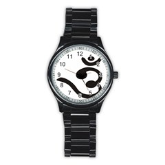 Bengali Om Symbol  Stainless Steel Round Watch by abbeyz71