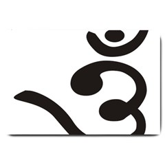 Bengali Om Symbol Large Doormat  by abbeyz71