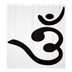 Bengali Om Symbol Shower Curtain 66  X 72  (large)  by abbeyz71