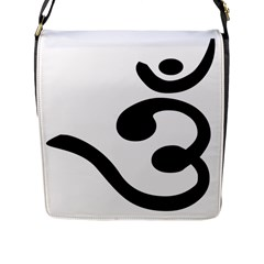 Bengali Om Symbol Flap Messenger Bag (l)  by abbeyz71