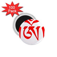Tibetan Om Symbol (red) 1 75  Magnets (100 Pack)  by abbeyz71