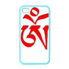 Tibetan Om Symbol (red) Apple Iphone 4 Case (color) by abbeyz71