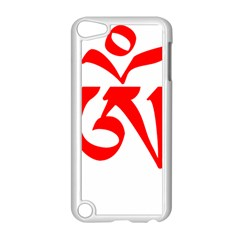 Tibetan Om Symbol (red) Apple Ipod Touch 5 Case (white) by abbeyz71