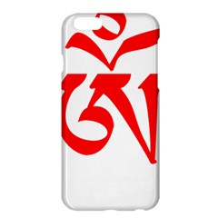 Tibetan Om Symbol (red) Apple Iphone 6 Plus/6s Plus Hardshell Case by abbeyz71