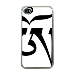Tibet Om Symbol (black) Apple Iphone 4 Case (clear) by abbeyz71