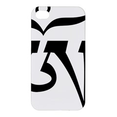 Tibet Om Symbol (black) Apple Iphone 4/4s Hardshell Case by abbeyz71