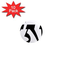 Tibetan Om Symbol (black) 1  Mini Magnet (10 Pack)  by abbeyz71